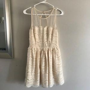 Ark & Co. Cream Lace Dress